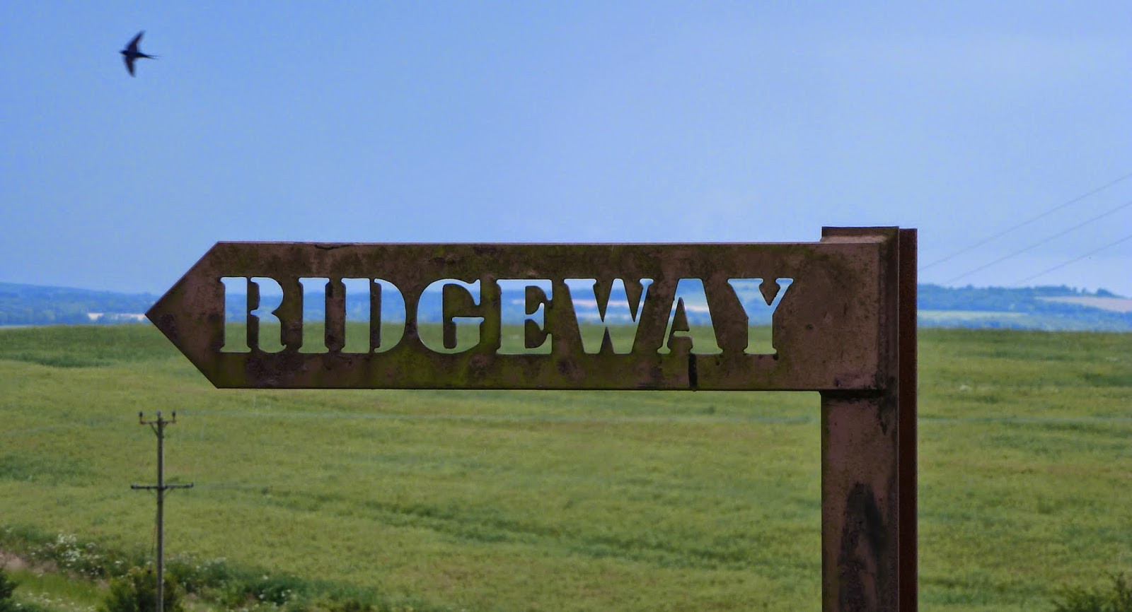 sign Ridgeway by Smeathes Ridge