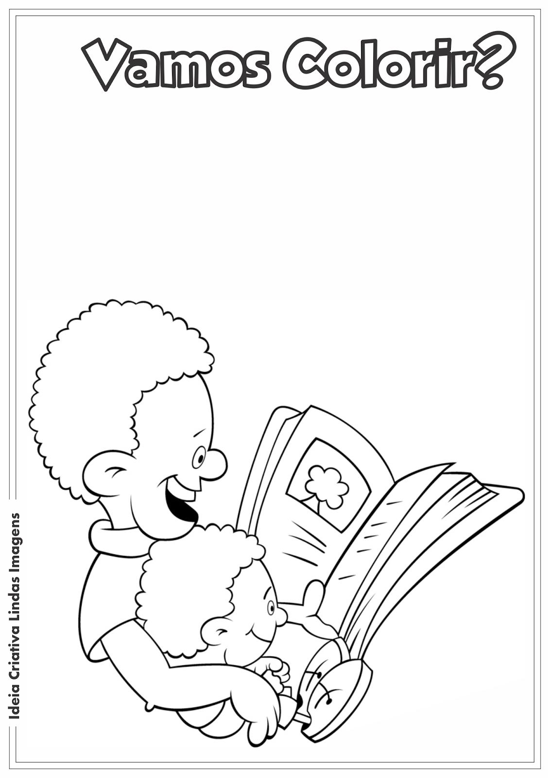 Desenho pra colorir - Dia do Livro Infantil