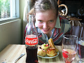 Sarah enjoying breakfast in Guatemala