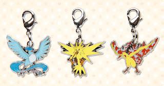 Pokemon Metal Chirm Dec 2011 Articuno Zapdos Moltres PokeCenJP