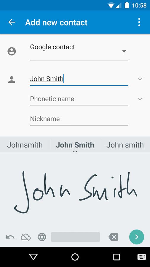 الكتابة بخط اليد في هاتفك الذكي عن طريق Google Handwriting Input