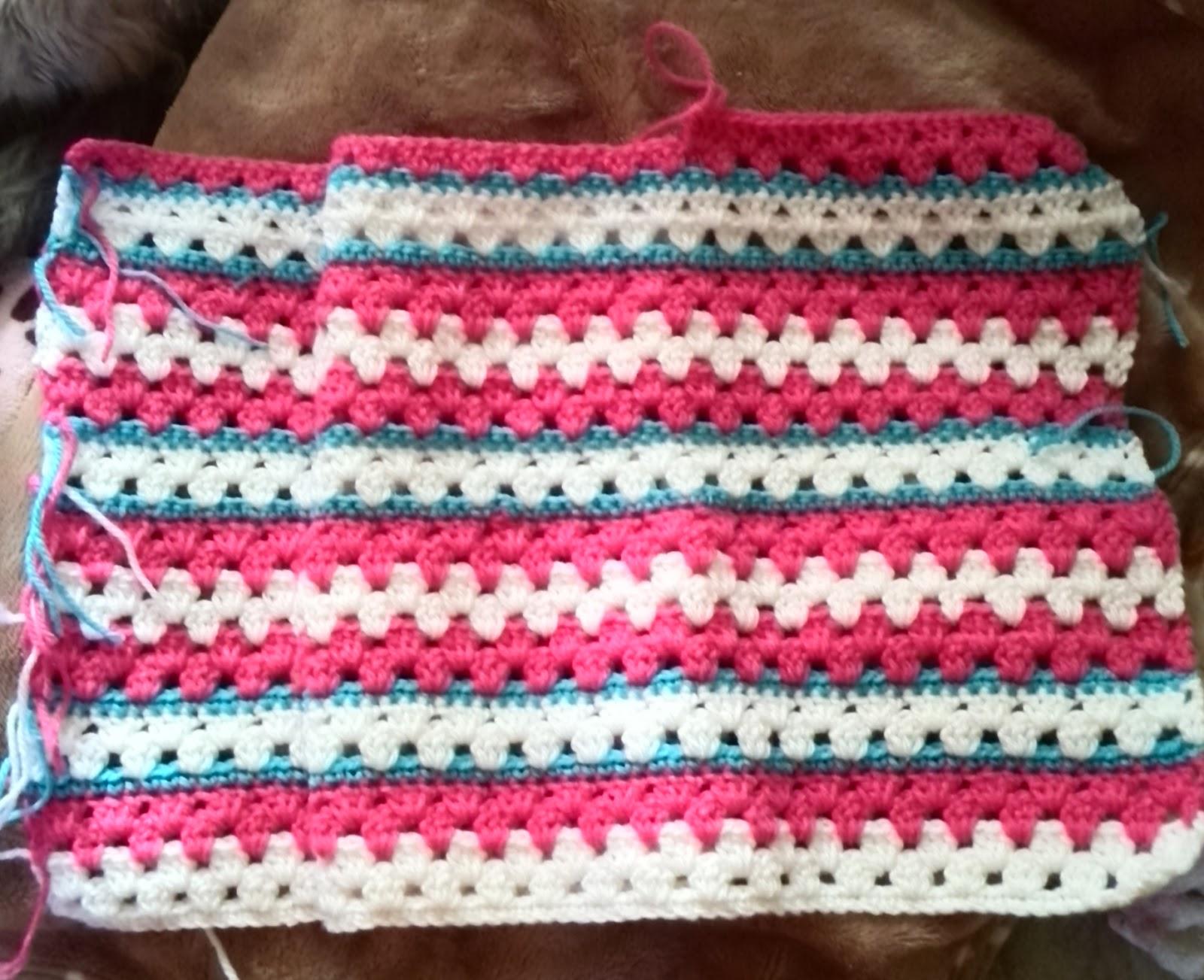 グラニーストライプの編み方と編み図