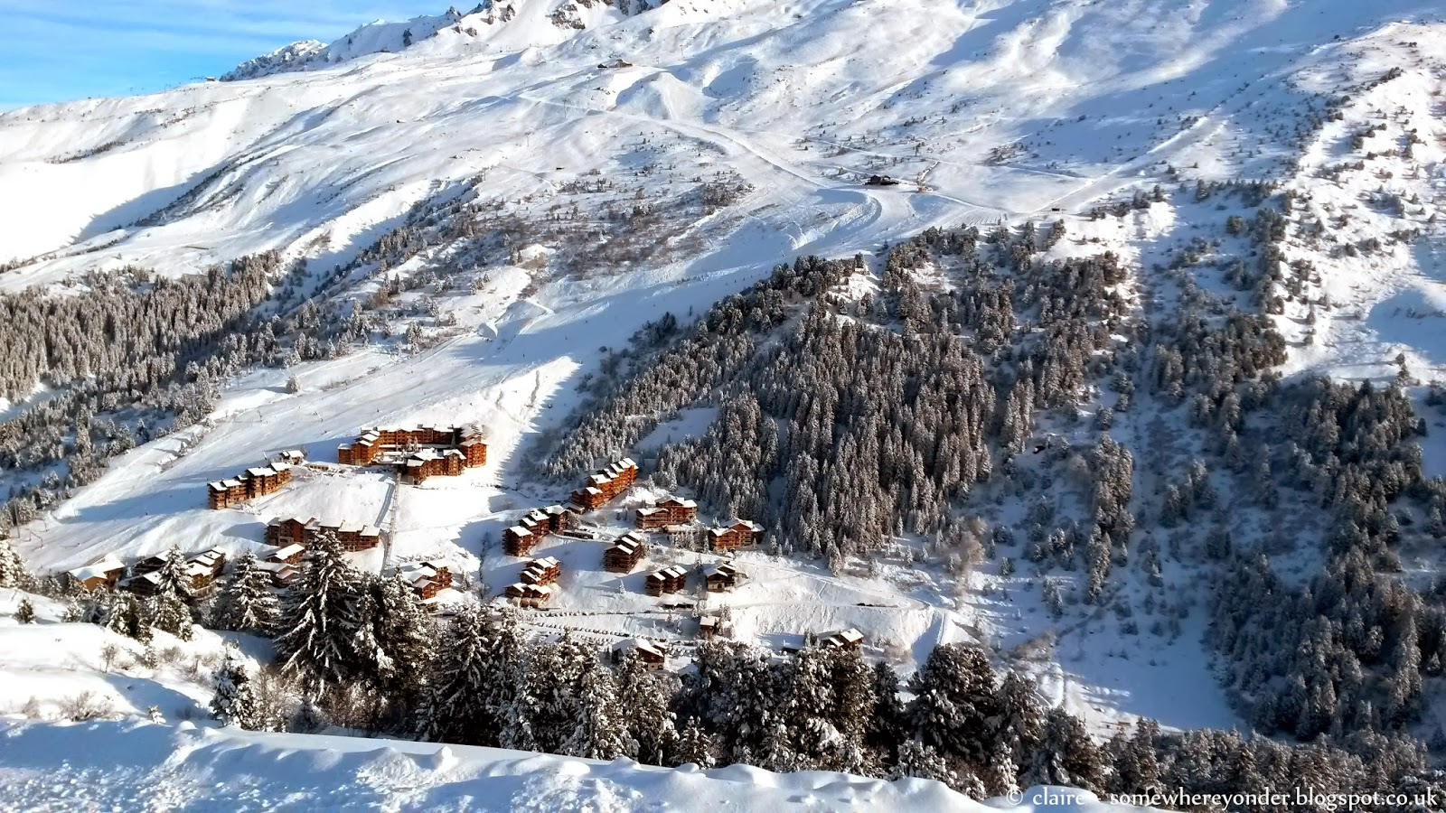 Small village in Val Thorens, France