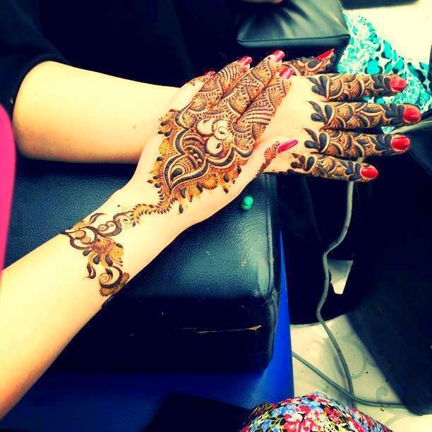 Mehndi Designs New Models : Beautiful latest simple arabic pakistani indian bridal