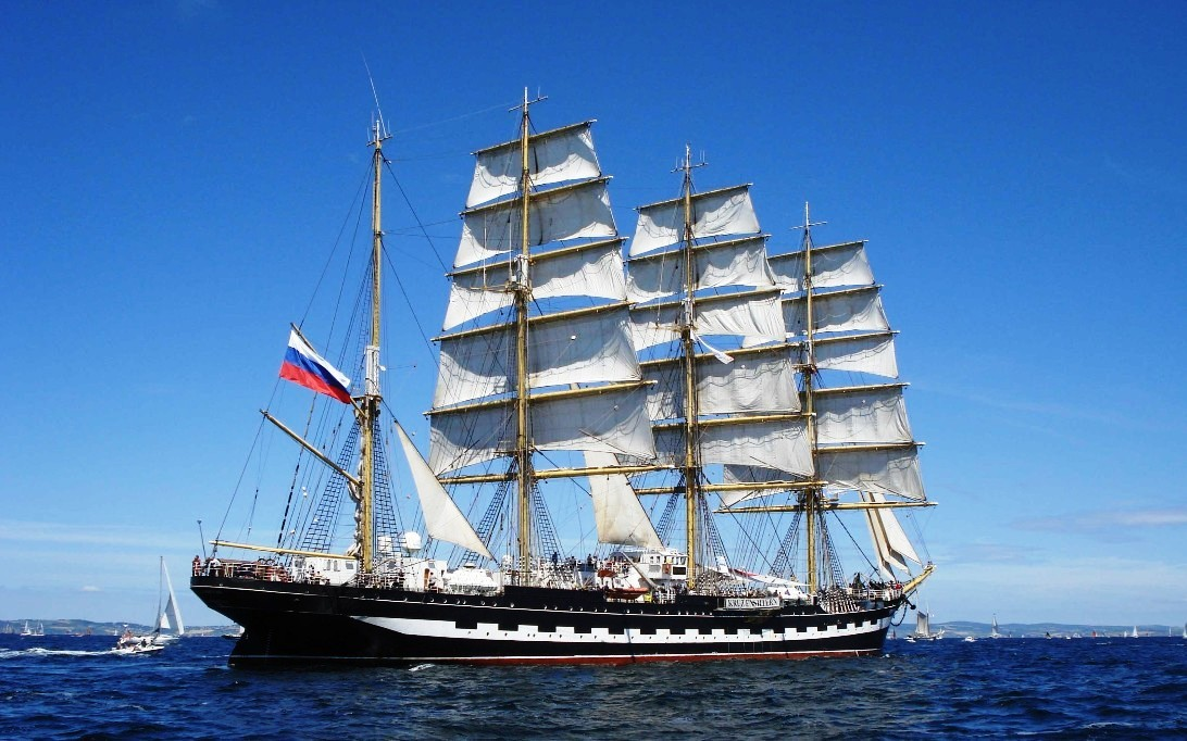 Kruzenshtern tall ship wallpaper 2