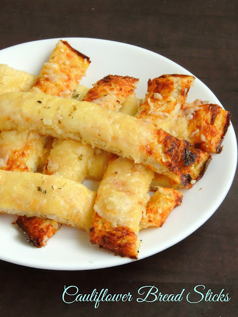 Low Carb, Gluten Free Cauliflower Bread sticks