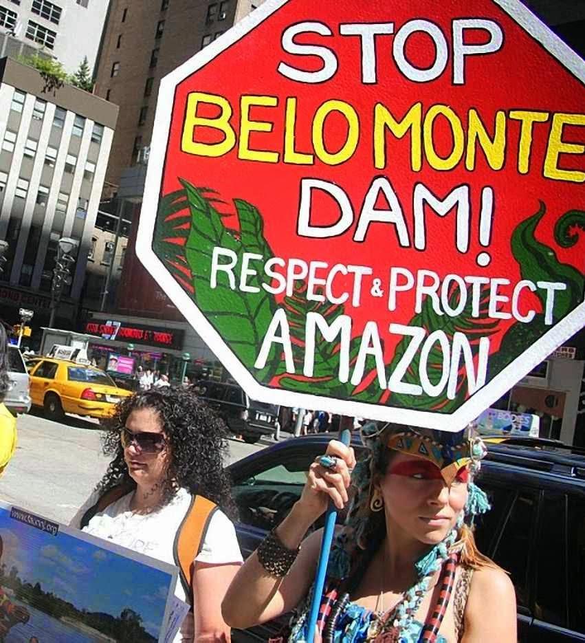 Manifestação em New York contra Belo Monte. Ambientalismo pode inviabilizar o futuro energético do Brasil
