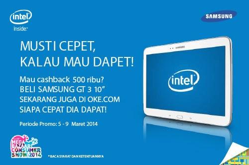 Cashback Rp 500.000 Samsung Intel