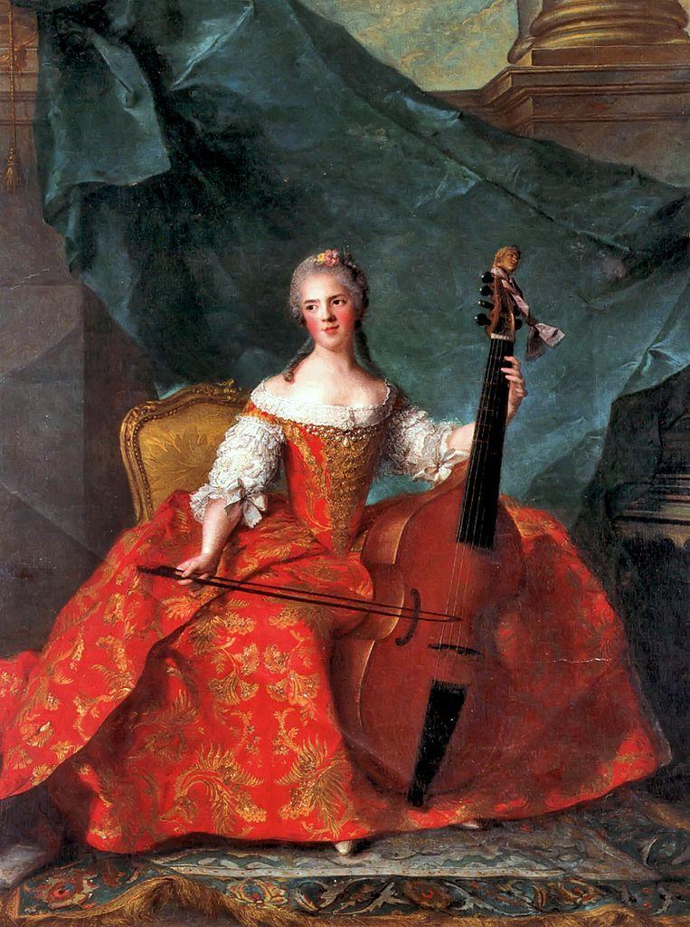Jean-Marc Nattier, Madame Henriette tocando la Viola da Gamba (1754)
