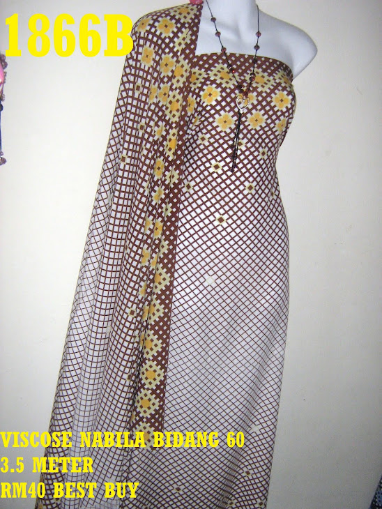 VN 1866B: VISCOSE NABILA BIDANG 60 INCI, 3.5 METER