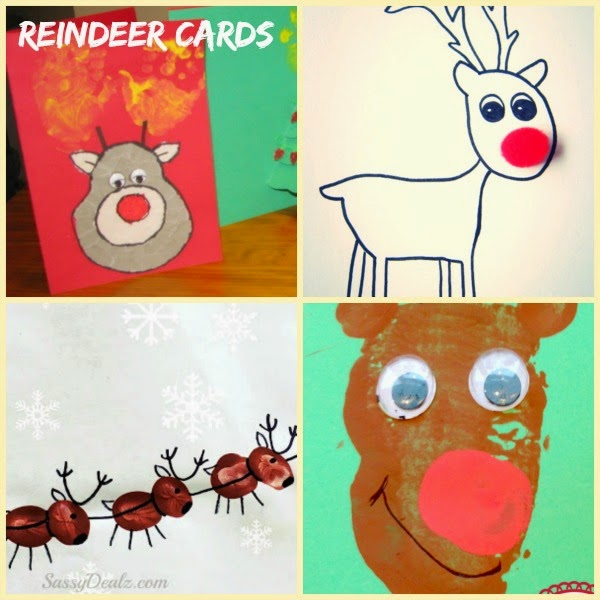 Reindeer handmade holiday cards