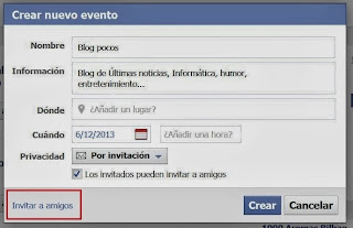invitar amigos evento facebook