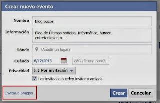 invitar amigos evento facebook