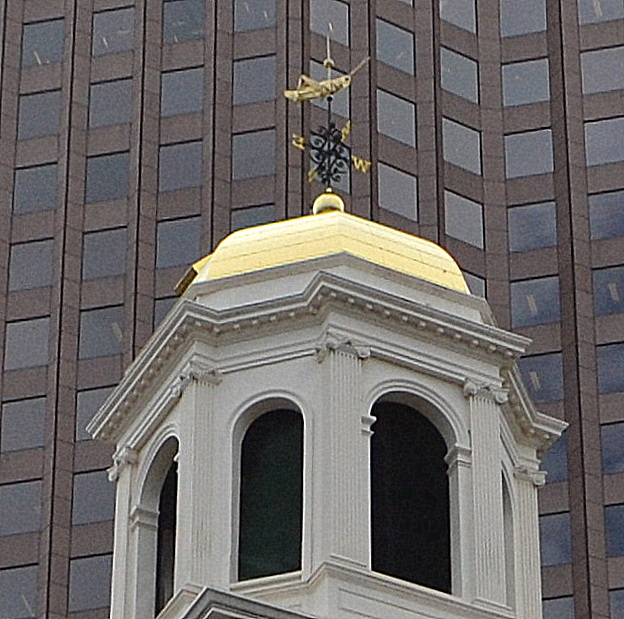 Faneuil Hall, cupola, Boston, gilded grasshopper, grasshopper