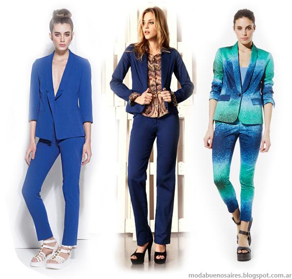 Moda 2014, trajes de mujer marcas argentinas.