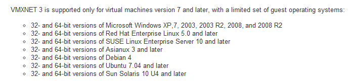 how to change guest operating system in vmware