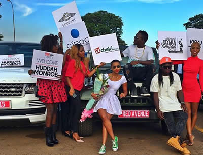 Huddah Monroe Welcomed By Ugandan Fans Photos