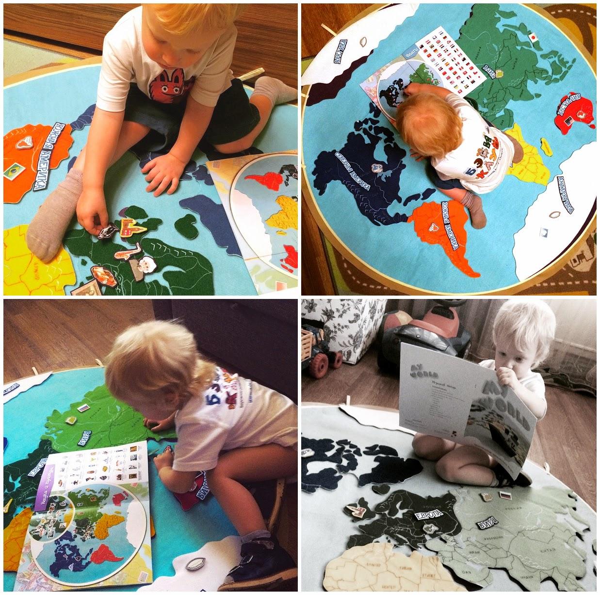 развивающая игра, география для детей, детская география, карта мира, карта мира для детей, мелкая моторика, сенссорика, чем занять ребенка, Мария Мантессори,  Велкроткань, фетр, танины рукодельности, эксклюзивные игрушки, книжка развивайка, тихая книга, развивающая книжка, путешествия, приключения, дошкольное развитие, стильные игрушки, лучший подарок