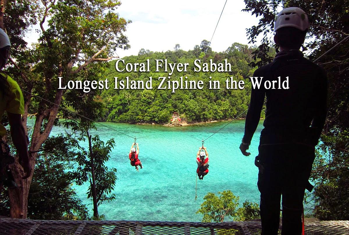 Coral Flyer Island Zipline in KK sabah
