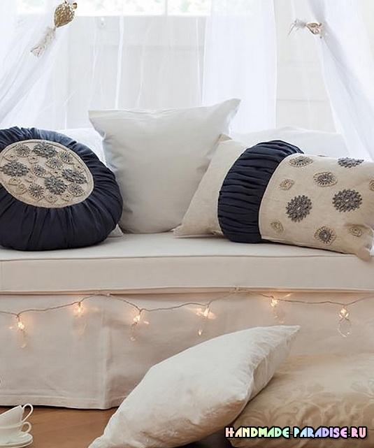 Схемы кружева для декорирования подушек