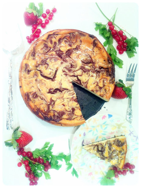 Cherie Kelly's Chocolate Marble Cheesecake