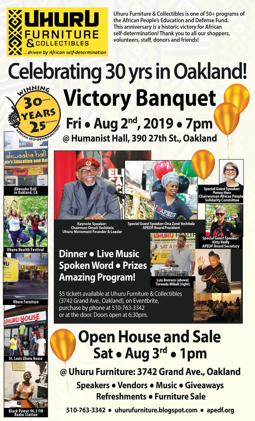 Join Us! Our 30th Anniversary Banquet! And Open House!
