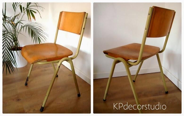 sillas vintage de colegio industriales
