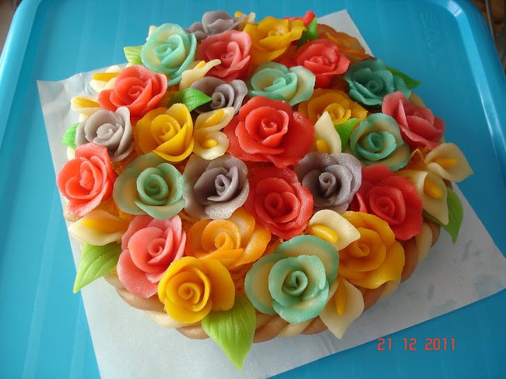 Cesta com flores de Doce Fino