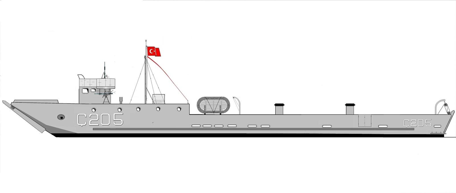 Peykpapermodels Tcg ç 205 Lcu çıkarma Gemisi Karton Modeli