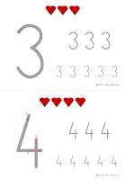 nauka pisania cyfr do wydruku