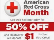 HostGator Red Cross Promo on Hosting Domains