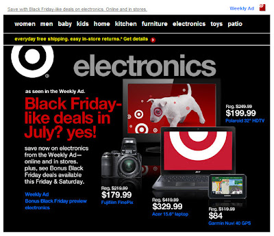 July 18, 2012 Target email