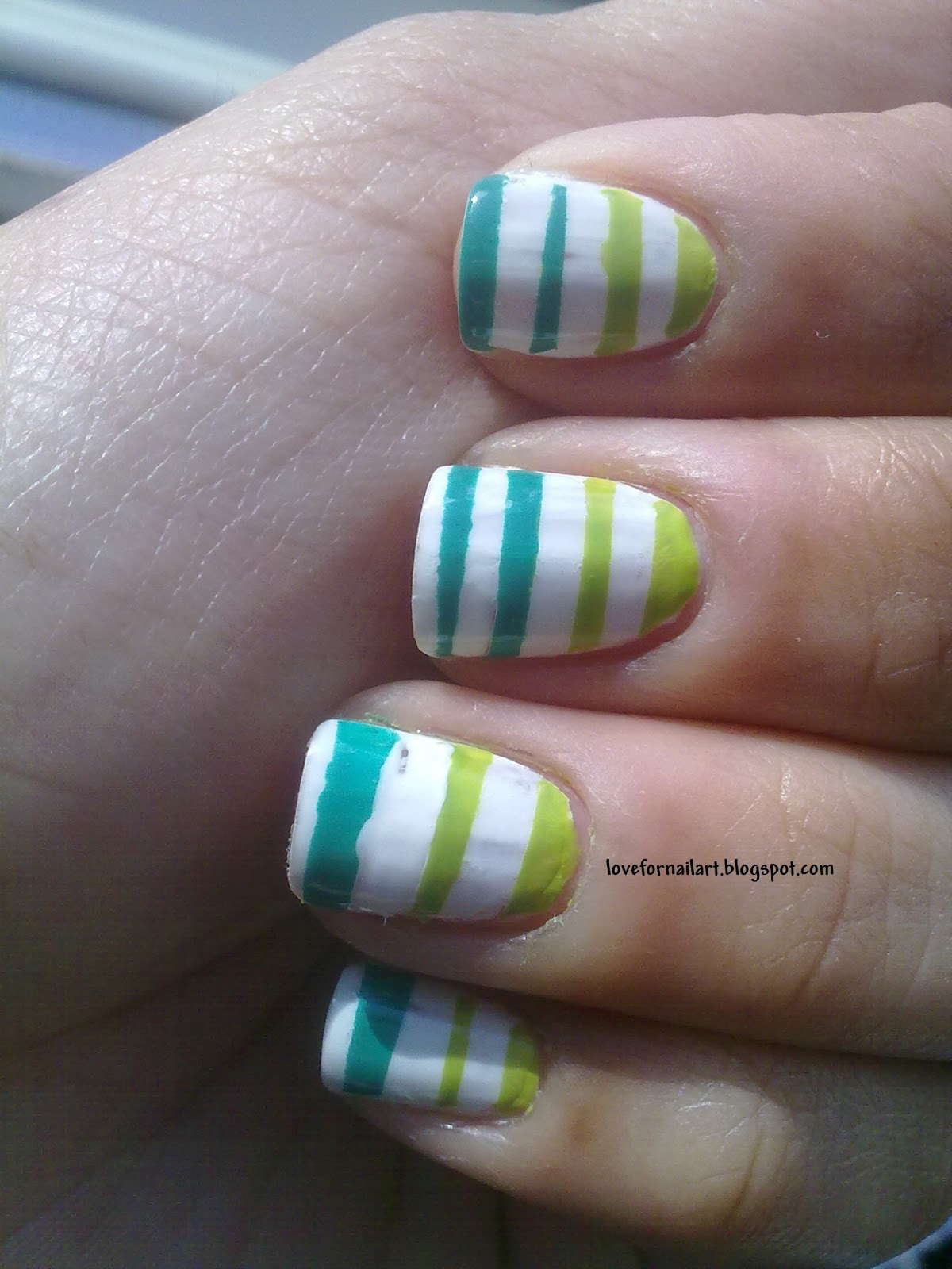 Love For Nail Art Stripes Nail Art Using Scotch Tape