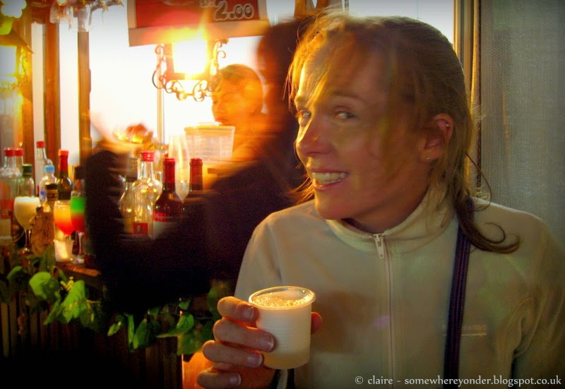Drinking a Pisco Sour in Lima, Peru