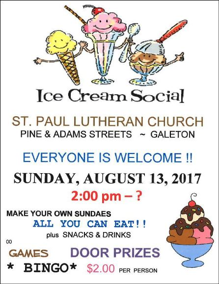 8-13 Ice Cream Social Galeton