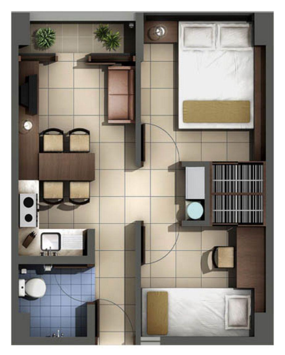 gambar denah interior rumah type36 minimalis idaman