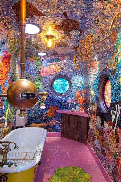 Fliesen-Kunst im Bad