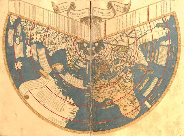Birkhalls miscellany flat earth the history of the ball part vii once again though i dont think it was the intention of the mapmaker to convey the idea that the earth is flat gumiabroncs Choice Image