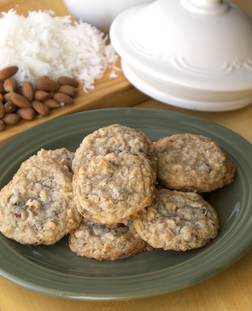 Marianne's Coconut Almond Chocolate Chip Cookies ~ Heat Oven to 350