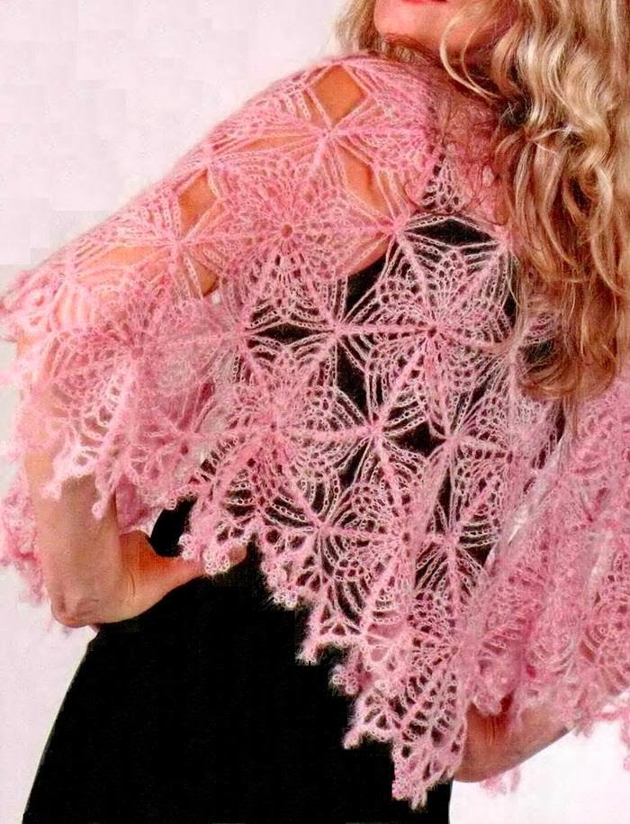 Crochet Lace Pattern : Crochet Shawls: Crochet Cape Pattern - Beautiful Crochet Lace ...