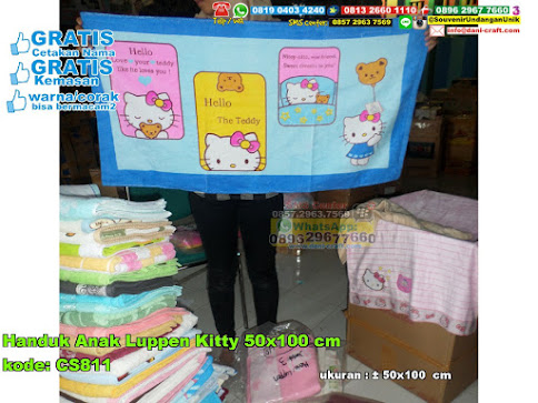 Handuk Anak Luppen Kitty 50×100 Cm