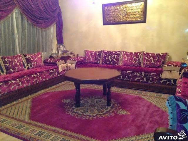 Le maroc deco for Salon marocain bleu roi