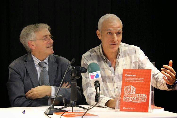 """Presentación del libro """"Petronor: un estudio histórico-sociológico de la influencia de la refinería en los municipios de su entorno"""""""
