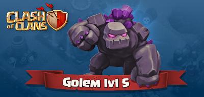 Clash of Clans Golem Level-5