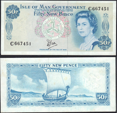 Isle of Man 50 New Pence 1979 P# 33a