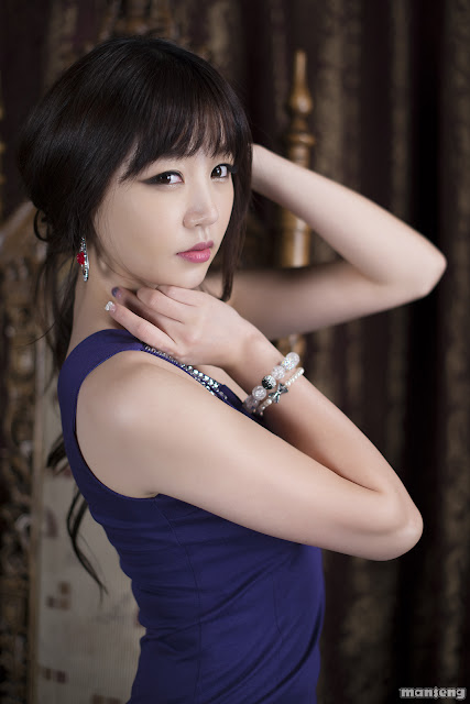 2 Hong Ji Yeon in Purple-Very cute asian girl - girlcute4u.blogspot.com