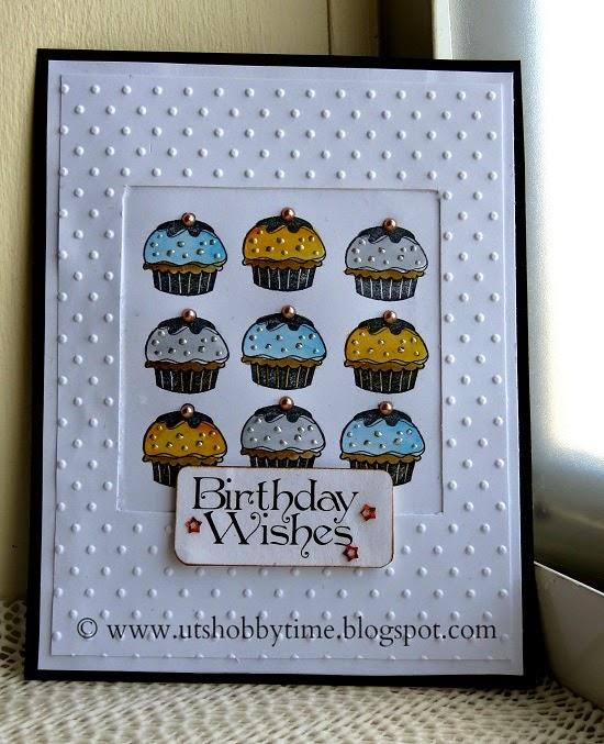 Uts Hobby Time Homemade Birthday Card Using Cupcake Stamp