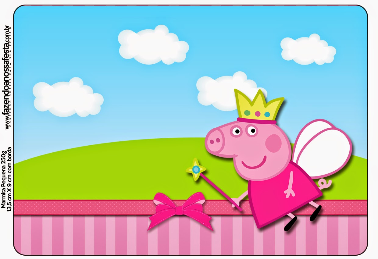 Peppa Pig Fairy Party: Free Printable Candy Bar Labels. | Is it ...