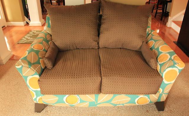 diy sofa reupholster