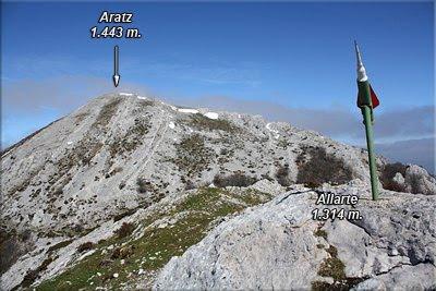 Cima de Allarte 1.314 m.